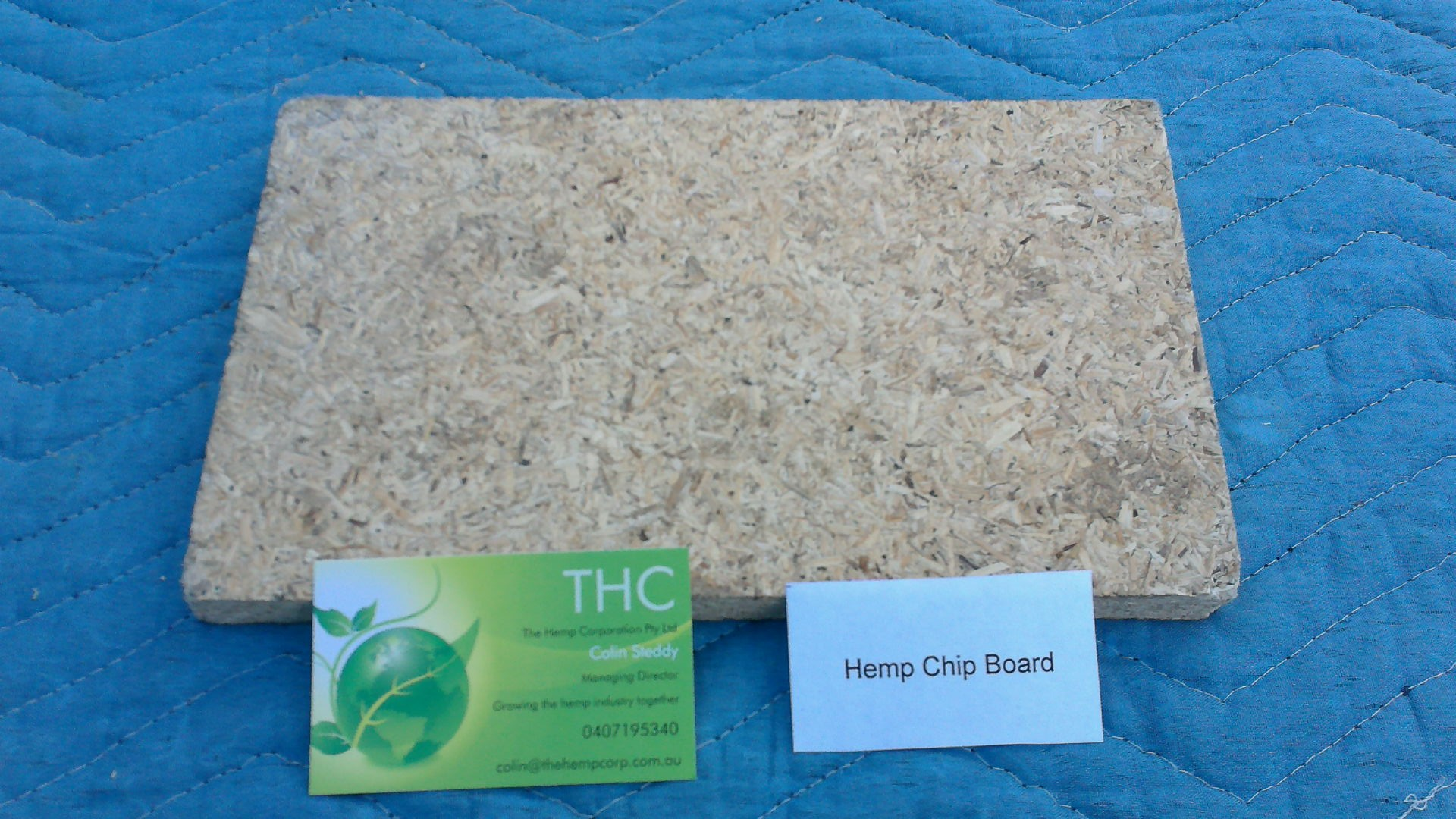 Hemp chipboard