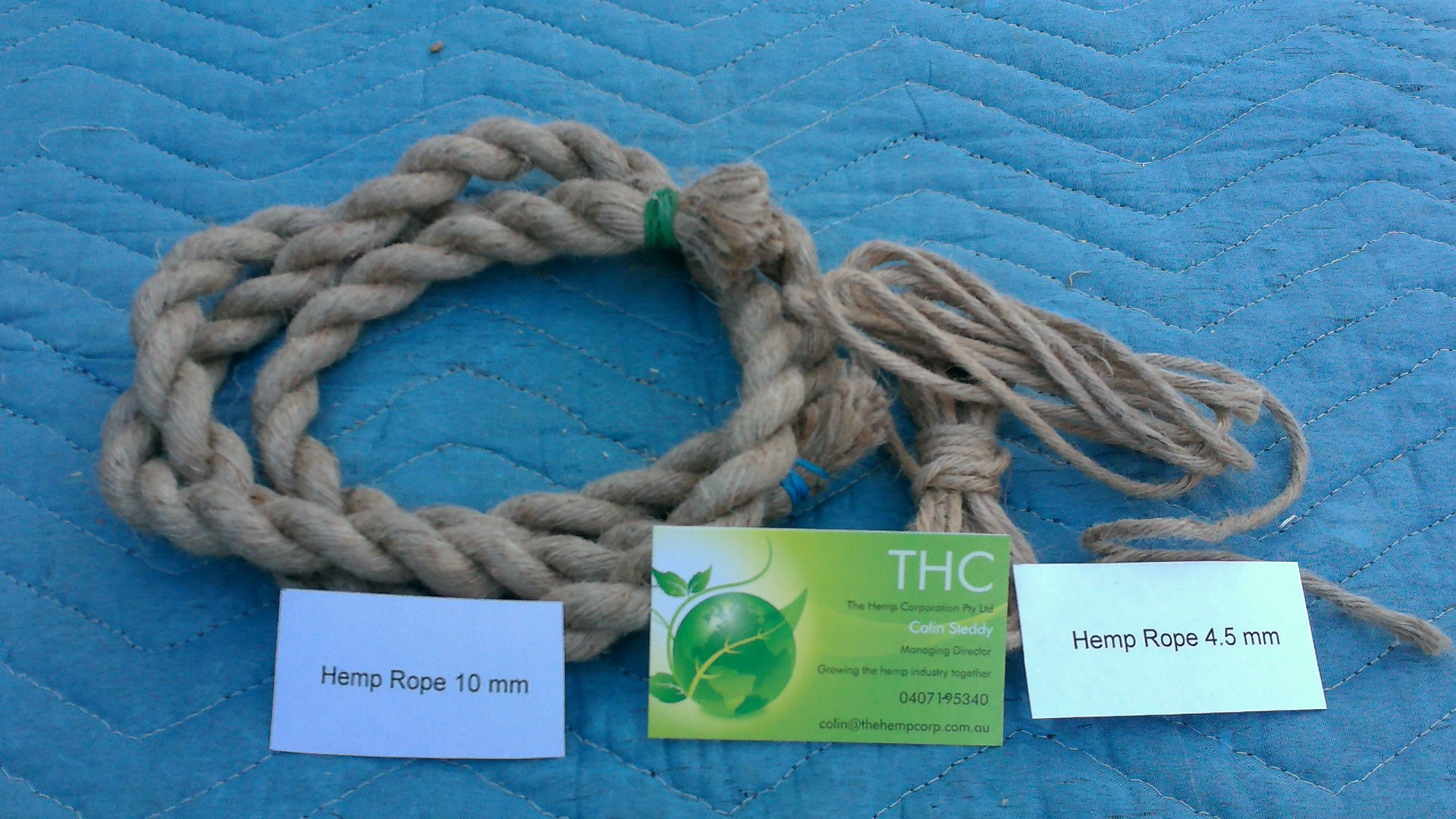 Hemp rope 10mm and 4.5mm