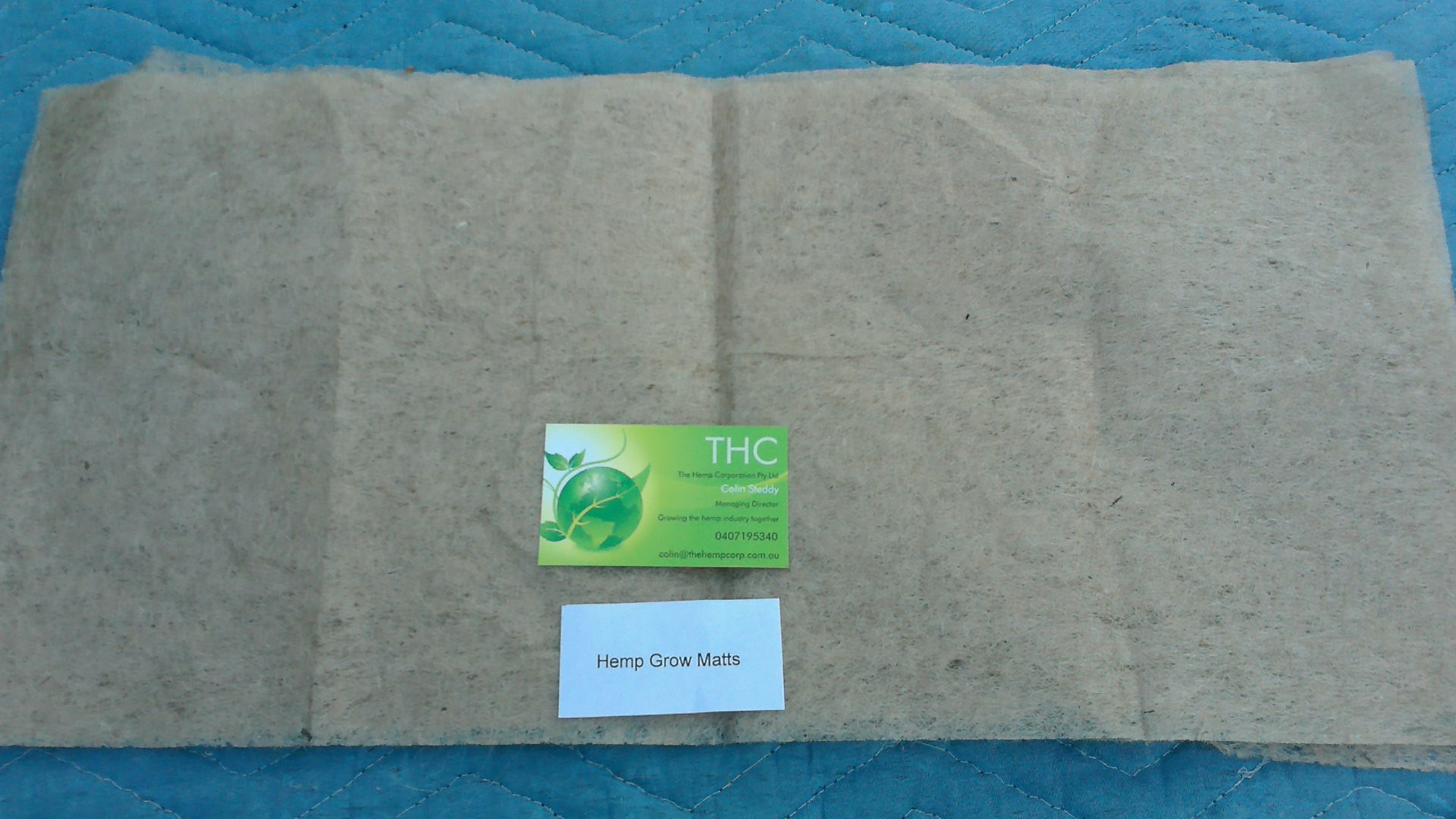 Hemp grow mat