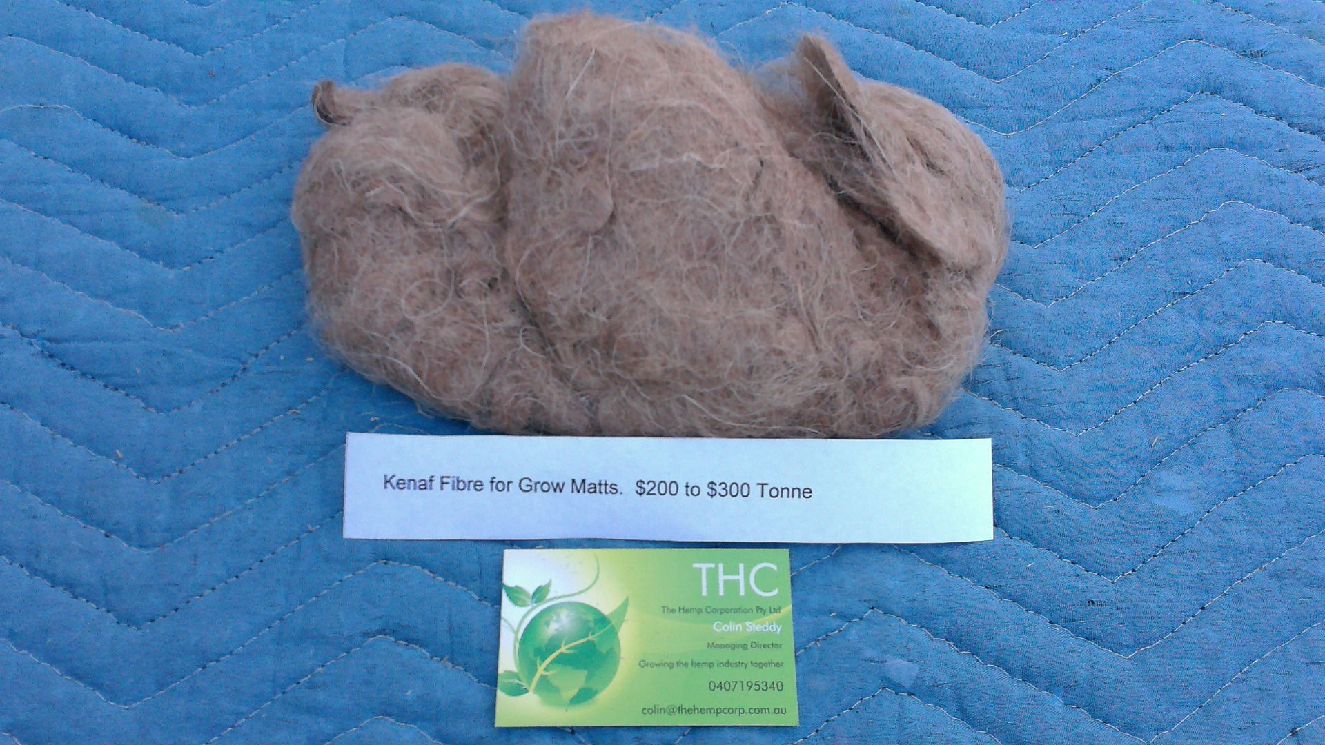 Kenaf fibre for grow mats