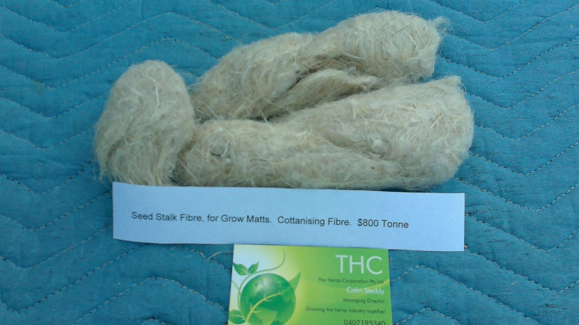 Seed stalk fibre