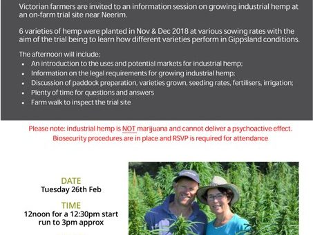 Open Event on Industrial Hemp